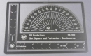 Protractor, etched