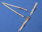USAF/USN seatbelts, beige, WW II, 1/24