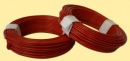 Plastic coating wire 0,5mm, red