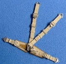 German seatbelts,  WW II, beige, 1/24